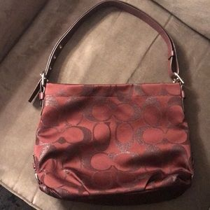 Burgundy Coach Bag